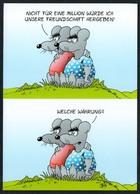 C4738 - TOP Uli Stein - Humor Scherzkarte - Maus Mäuse Geld Währung Euro - Humor