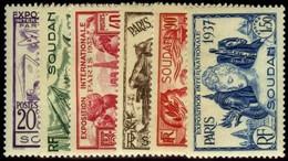 French Sudan. Sc #106-111. * - Sudan (1894-1902)