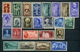 1949 ITALIA REPUBBLICA ANNATA COMPLETA ** MNH - 1946-.. Republiek