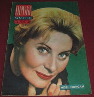 Michele Morgan FILMSKI SVET April 1959 VERY RARE - Books, Magazines, Comics