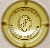 Perrier Joseph N°NR, Jaune-crème & Noir, Initiales Dans Ovales - Champagne
