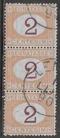Italia Italy 1870 Regno Segnatasse C2 Tris Sa N.S4 US - 1861-78 Vittorio Emanuele II