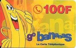 CARTE-PREPAYEE-FRANCE-100F--GO BANANAS-PLASTIFIE- GRATTEE- T BE- - France