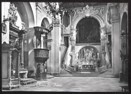 PUTIGNANO - BARI - 1951 - INTERNO CHIESA DI S.PIETRO - BELLA AFFRANCATURA TRICOLORE!!! - Bari