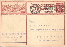 """PK 117  """"Château D'Oex""""            1930 - Stamped Stationery"""