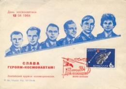 USSR 1964 FDC Cosmonautics Day With Baku Cancel On 6 K. MARS 1 Space Station - FDC & Commemorrativi