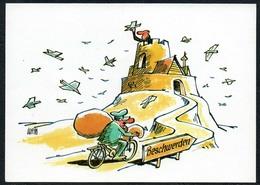 C4747 - TOP Eintrittskarte Leipziger Pfeffermühle - DDR Grafik - Cartoon Komik - Humor