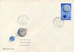 Romania 1969 FDC 1st Manned Flight Around The Moon By Apollo 8 - FDC & Commemorrativi