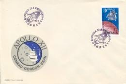 Romania 1969 FDC 2nd Landing On The Moon By Apollo 12 - FDC & Commemorrativi
