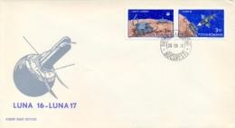 Romania 1971 FDC Pair Russian Automatic Moon Missions Luna 16 And Lunokhod 1 - FDC & Commemorrativi
