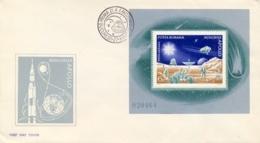 Romania 1972 FDC Souvenir Sheet Apollo Space Program - FDC & Commemorrativi