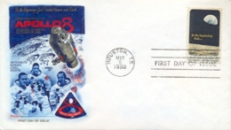 USA 1969 FDC Apollo 8 Space Mission - FDC & Commemorrativi