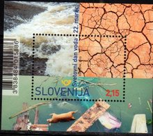 SLOVENIA , 2019, MNH, WORLD WATER DAY, POLLUTION, SHEEP, S/SHEET - Environment & Climate Protection