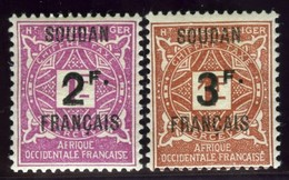 French Sudan. Sc #J9-J10. Postage Due. * - Sudan (1894-1902)