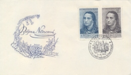 Czechoslovakia 1950 FDC 130th Anniversary Birth Of Bozena Nemcova Writer - Donne Celebri