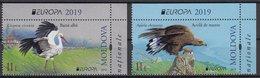 MOLDOVA 2019 EUROPA CEPT.NATIONAL BIRDS SET 2 ST.MNH - 2019
