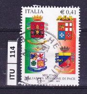 ITALIA REPUBBLICA   2002, Missioni Militari Di Pace, Usato - 2001-10: Usati