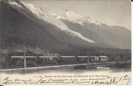 74 CHAMONIX MONT BLANC ARRIVEE EN GARE DES MOUSSOUX TRAIN PLM SNCF A VOIX METRIQUE LE FAYET MARTIGNY JULLIEN JJ 2984 - Chamonix-Mont-Blanc