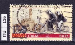 ITALIA REPUBBLICA   2003, Fratelli Alinari, Usato - 6. 1946-.. Repubblica