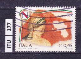 ITALIA REPUBBLICA  2005, Regioni, Campania, Usato - 6. 1946-.. Repubblica