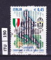ITALIA REPUBBLICA  2005, Juventus Campione D'Italia, Usato - 6. 1946-.. Repubblica