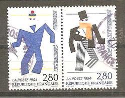 FRANCE 1994 Y T N ° 2868/2869  Oblitéré - France