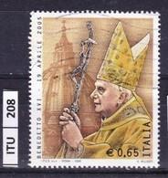 ITALIA REPUBBLICA  2005, Papa Benedetto XVI, Usato - 6. 1946-.. Repubblica
