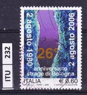 ITALIA REPUBBLICA  2006, Anniversario Strage Di Bologna, Usato - 6. 1946-.. Repubblica