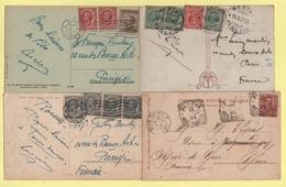 Italie - Lot De 4 Cartes Postales - Voir Affranchissements - 1900-44 Vittorio Emanuele III