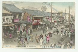 THEATRE STREET AT YOKOHAMA 1908   VIAGGIATA FP - Yokohama