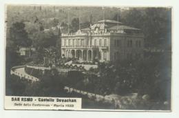 SAN REMO - CASTELLO DEVACHAN - SEDE DELLA CONFERENZA APRILE 1920   VIAGGIATA FP - San Remo