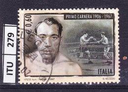 ITALIA REPUBBLICA  2007,Primo Carnera, Usato - 6. 1946-.. Repubblica
