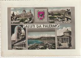 99-Palermo-Saluti Da...5 Vedutine E Stemma-v.1956 X Catania - Palermo