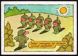 C4760 - Willy Moese Humor Scherzkarte - Militärverlag Der DDR Grafik - Humor