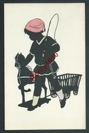 Illustrateur Anonyme. Série De 14 Lithos. Silhouettes . Enfants, Jeux, Jouets, Poupées, Teddy, Cheval De Bois, Chien... - Enfants
