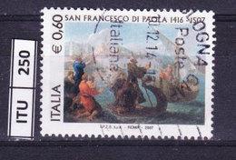 ITALIA REPUBBLICA  2007, San Francesco Di Paola, Usato - 6. 1946-.. Repubblica