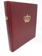 LINDNER Ringbinder Mit Audruck: Krone Rot Gebraucht Neuwertig (Z1429) - Alben & Binder