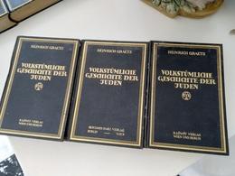 JUDAICA ; HEINRICH GRAETZ VOLKSTUMLICHE GESCHICHTE DER JUDEN - Oude Boeken