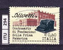 ITALIA REPUBBLICA  2008, Olivetti, Usato - 6. 1946-.. Repubblica