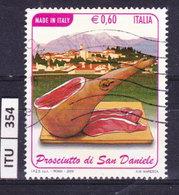 ITALIA REPUBBLICA  2009, Prosciutto San Daniele, Usato - 6. 1946-.. Repubblica