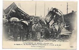MELUN - Catastrophe De Melun 4 Novembre 1913 - Travaux De Déblaiement - Melun