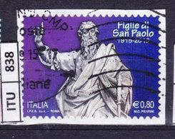 ITALIA REPUBBLICA  2015, Figlie Di San Paolo, Usato - 6. 1946-.. Repubblica