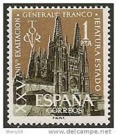 1961-ED. 1373-SERIE COMPLETA-25 ANIV.EXALTACION FRANCO A LA JEFATURA DEL ESTADO.CATEDRAL BURGOS-NUEVO - 1931-Hoy: 2ª República - ... Juan Carlos I