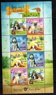CROATIA, 2019, MNH, CHILDREN'S WORLD, PETS, DOGS, MOUNTAINS, SHEETLET OF 2 SETS - Dogs