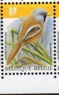 BELGIUM, 2019, MNH, BIRDS, BEARDED REEDLING, DEFINITIVES, REGISTERED MAIL, 1v - Birds