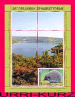 TRANSNISTRIA 2013 Nature Fauna Animals Hedgehog Lake Forest Natural Reserve Jagorlyk S-sheet MNH - Stamps