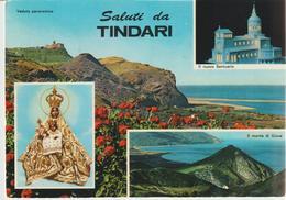 68-Tindari-Messina-Saluti Da...-Religione:Madonna.Chiesa-Santuario-v.1960 X Aci S.Antonio-Catania - Messina