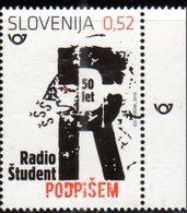 SLOVENIA , 2019, MNH, RADIO STUDENT, RADIO STATIONS,1v - Stamps