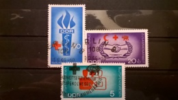FRANCOBOLLI STAMPS GERMANIA DEUTSCHE DDR 1966 USED SERIE COMPLETA RED CROSS  GERMANY - [6] Repubblica Democratica