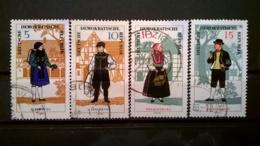 FRANCOBOLLI STAMPS GERMANIA DEUTSCHE DDR 1966 USED SERIE COSTUMI FOLK  GERMANY - [6] Repubblica Democratica